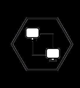 logo vectoriel réseau informatique